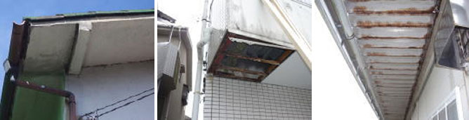 軒・ベランダ・階段 裏の雨漏り