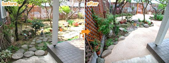 防草舗装で雑草対策