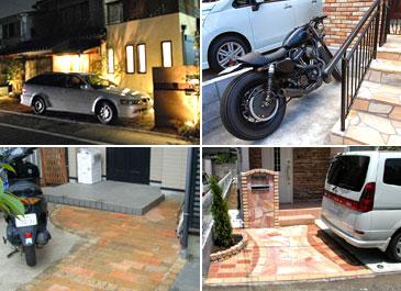 駐車場・バイク置き場 施工事例