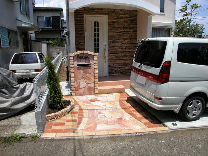 茅ヶ崎市 K様邸 外構工事・エクステリア工事・アプローチ・駐車場工事