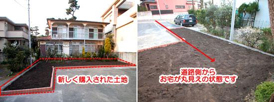 茅ヶ崎市 植栽目隠し施工例