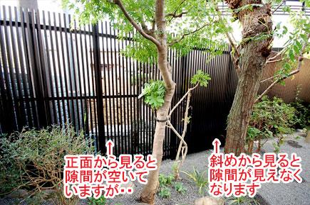 神奈川県藤沢市Y様 庭リフォーム 目隠し施工事例v