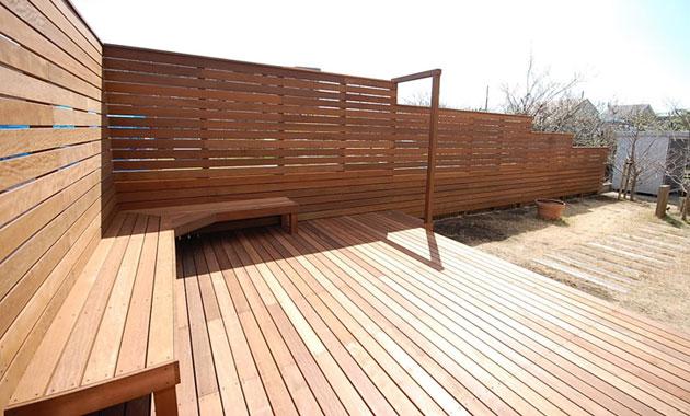 神奈川県茅ヶ崎市T様邸 ウッドデッキ・ドッグラン・目隠しフェンス施工事例/背の高いフェンス,高尺フェンス,目隠しフェンス