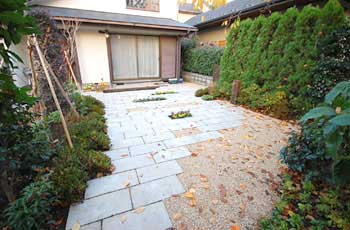 神奈川県藤沢市 石張り 庭リフォーム・造園施工事例・庭づくり
