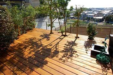 神奈川県横浜市 ウッドデッキ ウッドテラス施工事例・庭づくり